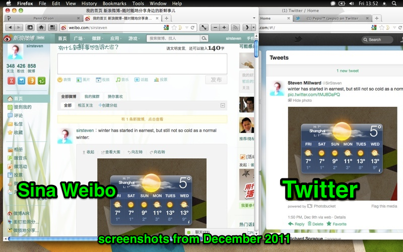 How SIna Weibo looked before it got ugly