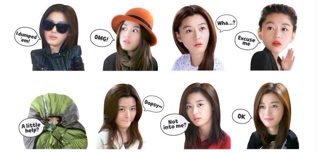 Line's emoticons get a bit less cartoony with addition of photo stickers