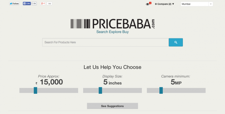 PriceBaba   Get The Best Prices Around You