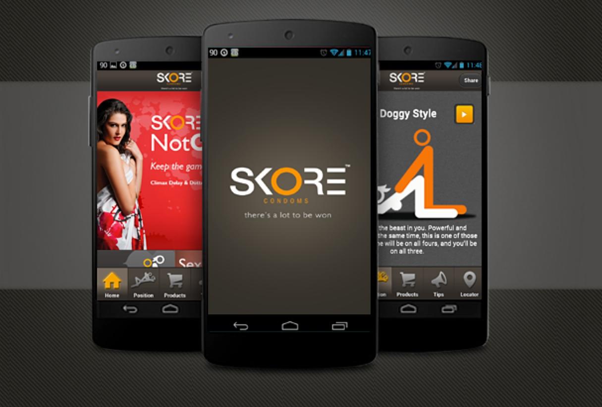 Skore condom app for India