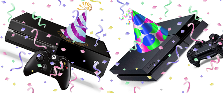xbox ps4 confetti party