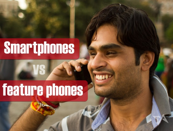 44 million new smartphones shipped in India in 2013, but feature phones still prevail