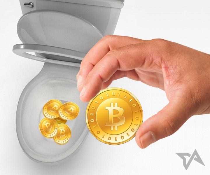 Bitcoin in the shitter