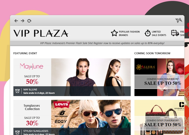 Fashion flash sales site VIP Plaza launches today in Indonesia