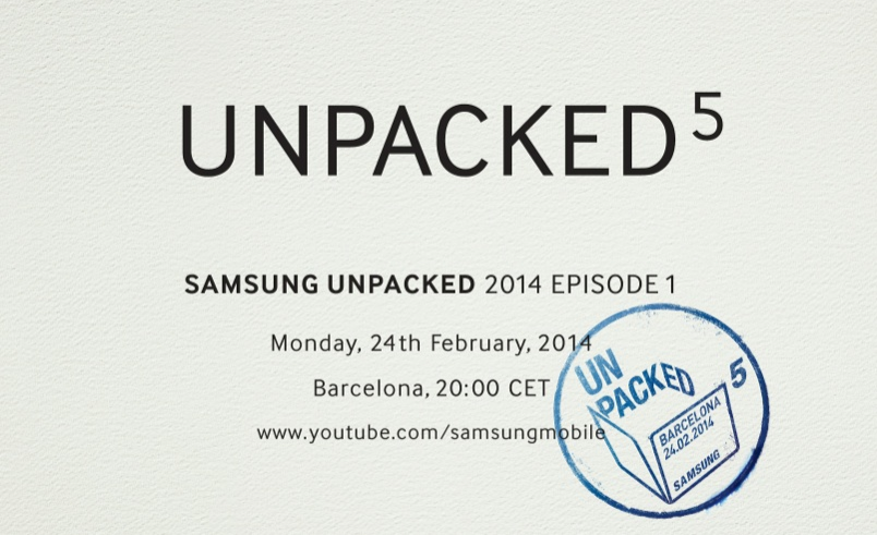 Get ready to see the new Samsung Galaxy S5 at launch event on February 24