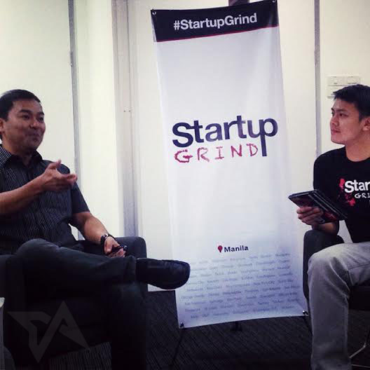 (Left) Freelancer Philippines country manager Jorge Azurin at the Startup Grind event in Makati City, Philippines.