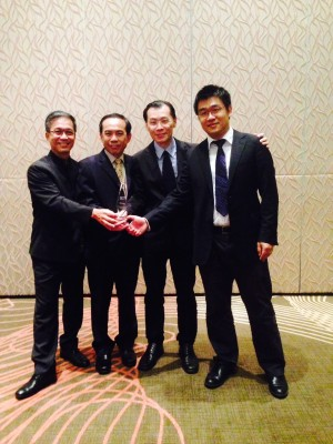 ViSenze founders (L-R): Roger Yuen (Chairman), Prof Chua Tat Seng (Chief Scientist), Oliver Tan (CEO), and Dr Li GuangDa (CTO)