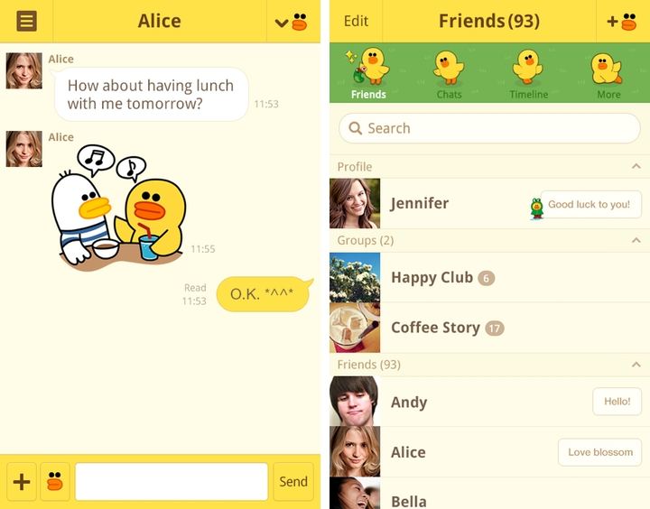 Line gets colorful, adds new theme store in updated Android app
