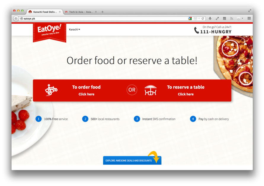 Pakistan gets a new food delivery option with the launch of EatOye