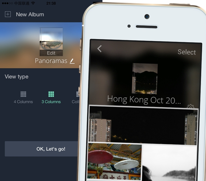 Tidy app for phone photo albums