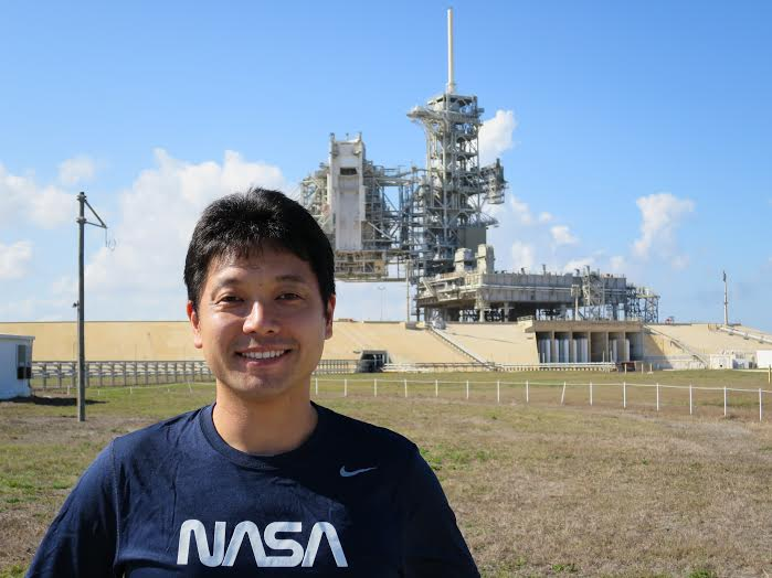 Okada at the Kennedy Space Center in Houston.