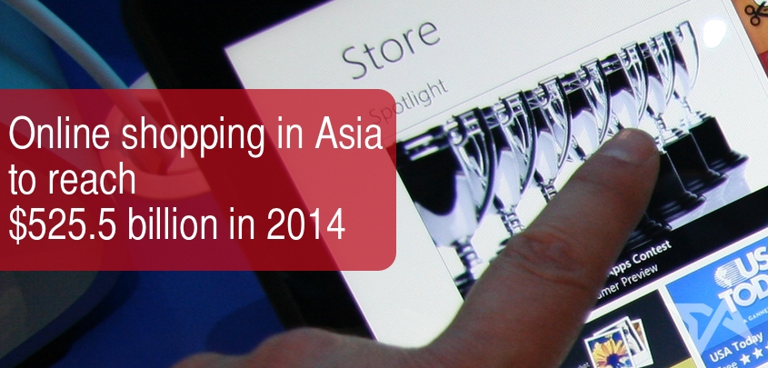 Asia online shopping spending 2014 and 2015