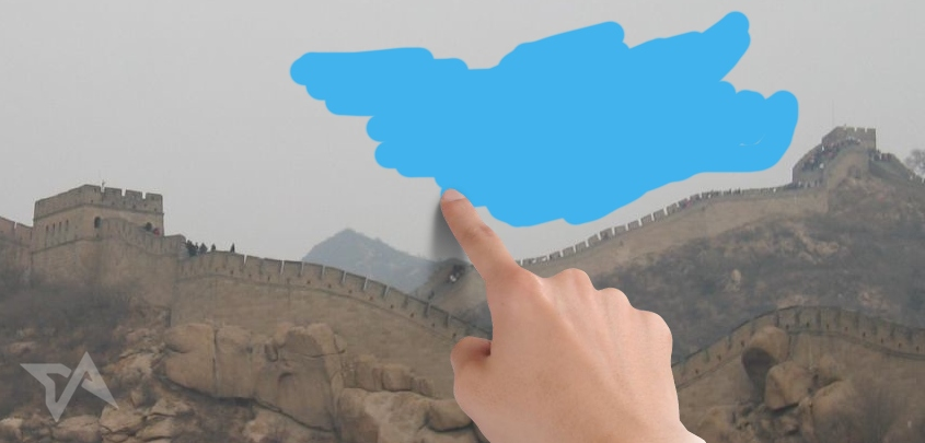 China pollution vs blue skies