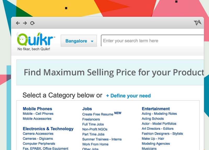 India Classifieds Site Quikr Gets 90 Million Funding