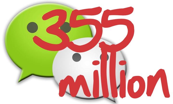 WeChat MAUs hit 355 million