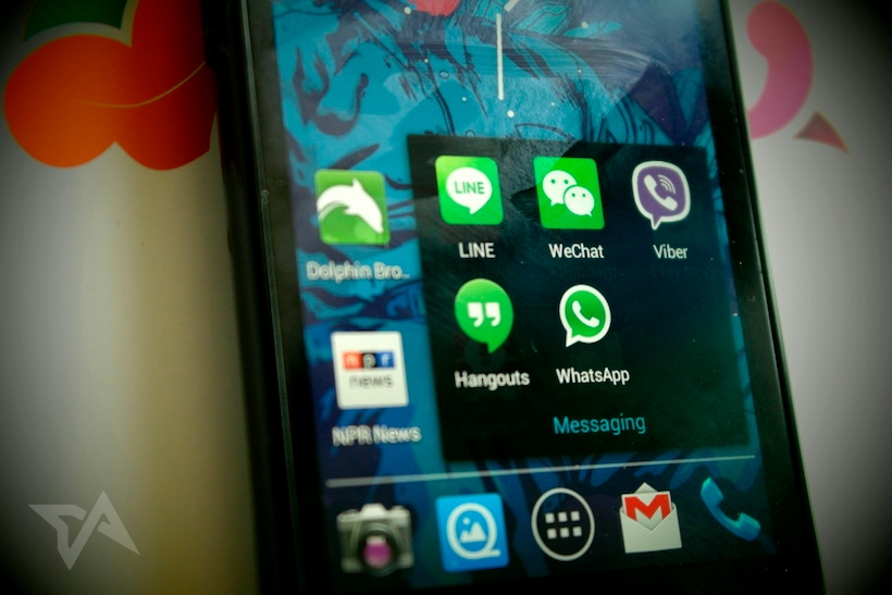 messaging apps in Asia - WeChat, Line, Viber, WhatsApp