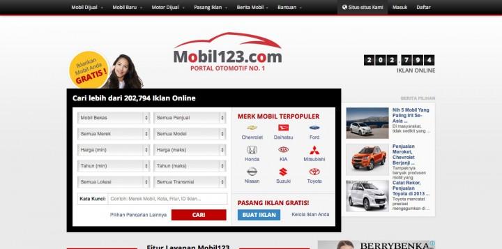 mobil123-website