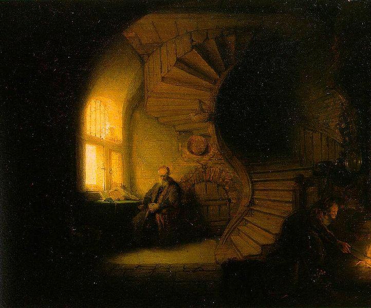 rembrandt-philosopher-in-meditation-flappy-bird-bitcoin