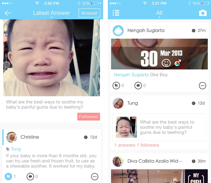 Baby photo app InstaB adds in Q&A section to become Quora for parents