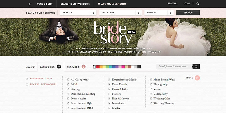 Bridestory-website