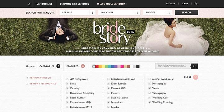 Bridestory-website