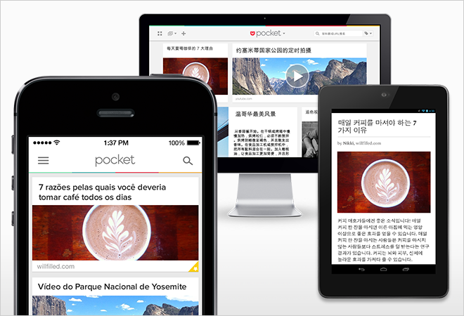 Read-it-later app Pocket seeks new users in China and Korea with latest update