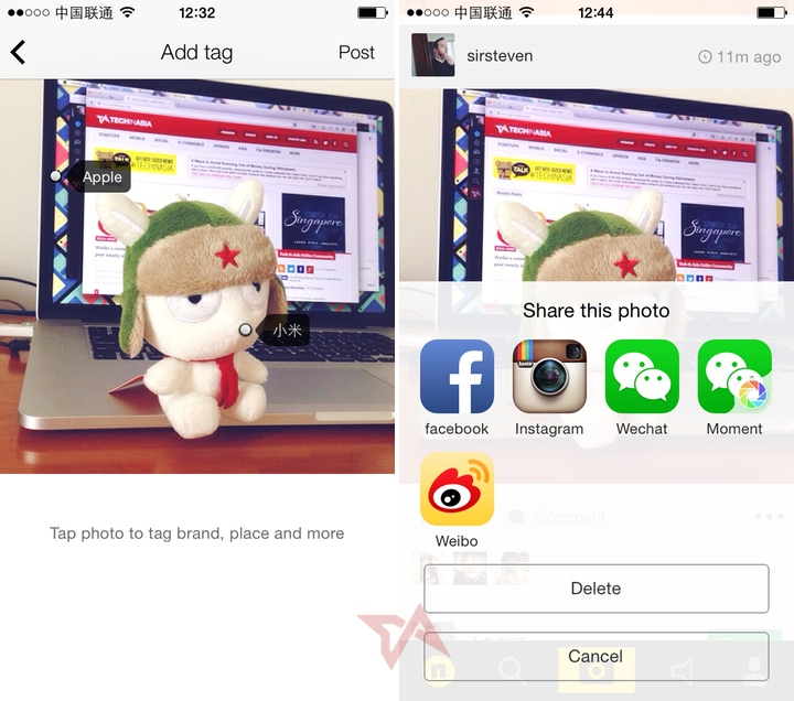 Got swag? These 2 photo apps from China help you tag it, flaunt it
