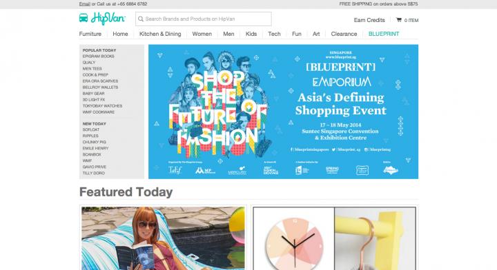 hipvan ecommerce sites singapore