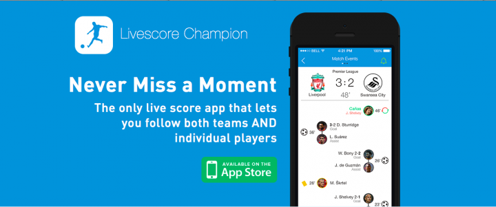 soccer livescore champion app
