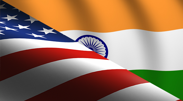 usa india flag diagonal