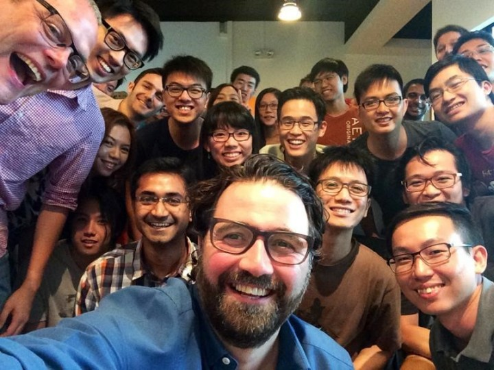 Zendesk CEO with the Zopim team.