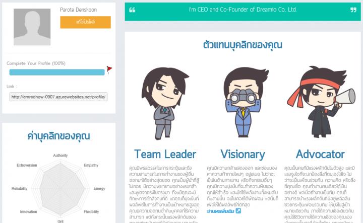 WonderMe Job Seeker Profile