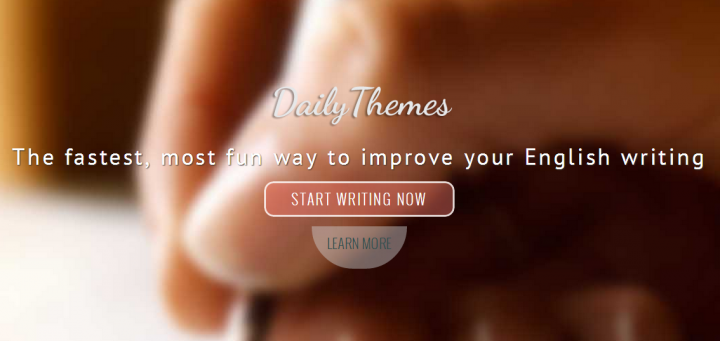 Daily Themes - A place to write better