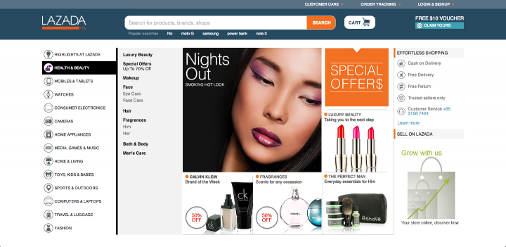 Lazada launches in Singapore with a new site and logo