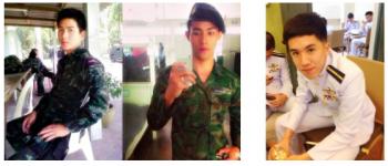 handsome thai soldiers