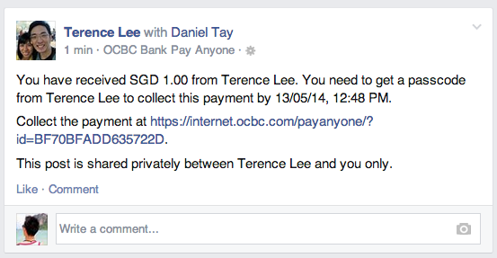 ocbc pay anyone receive 1
