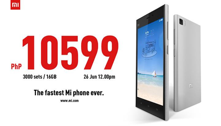 Xiaomi Mi3 Philippines