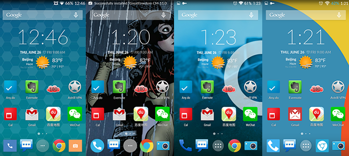 cyanogen themes screenshots