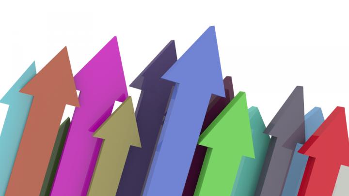 arrow upward growth