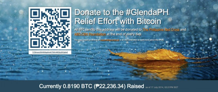 Bitcoin fundraising campaign aims to support typhoon relief operations