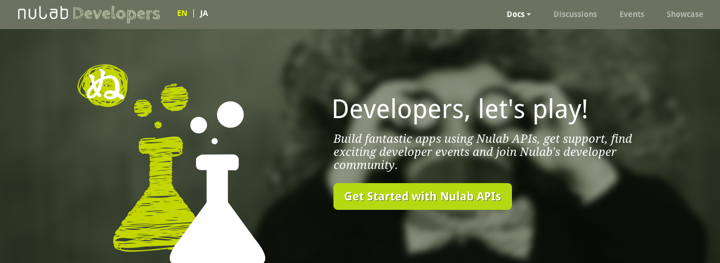 Nulab Developers screen