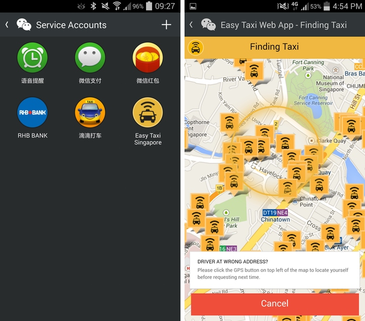 WeChat users in Singapore can now book taxis inside app, more countries to follow in EasyTaxi partnership