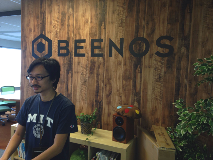 Hiro Maeda at the Beenos office.