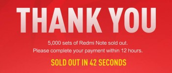 Launch of Xiaomi's Redmi Note in Singapore sees 5,000 phones sold within 42 seconds, breaking last record