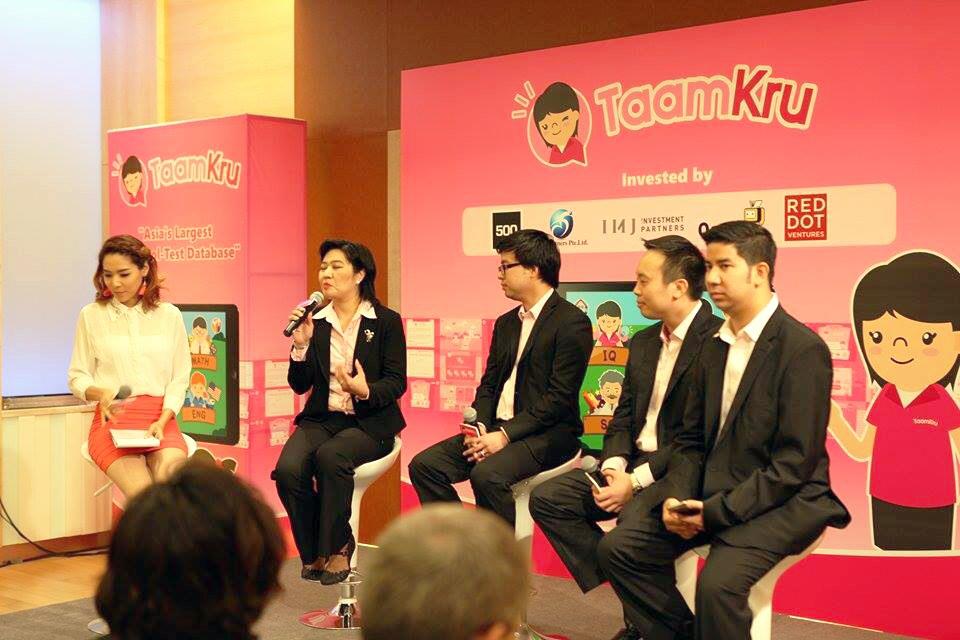 Taamkru executives (in black) at an event announcing their plans. Photo: Saiyai Sakawee
