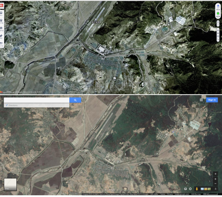 South Korea S Daum Has A Better Map Of North Korea Than Google