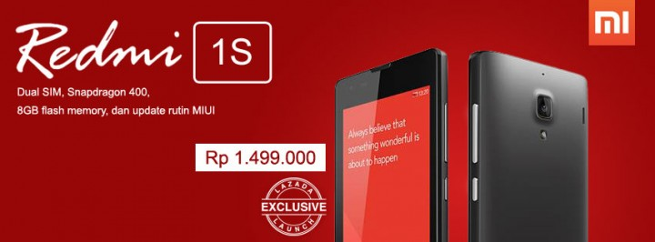 Xiaomi redmi 1s sold out in indonesia in 7 minutes redmi 1s lazada indonesia stopboris Choice Image