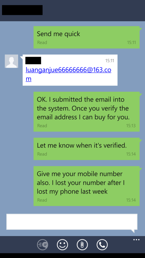 Hacker tries to scam a Line user  Watch his hilarious response
