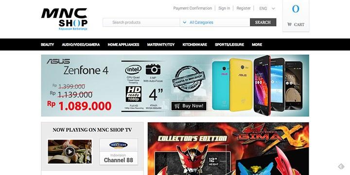 Mnc Shop Website