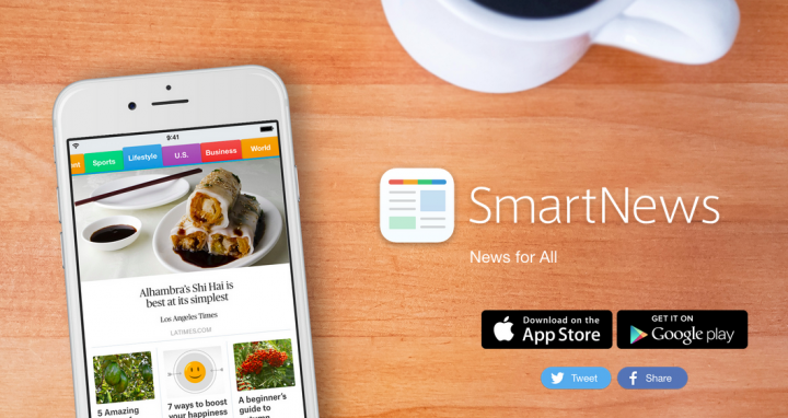 Japan's SmartNews booming in US with 1M monthly active users